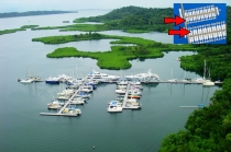 aerial imagery of Slips for Sale in Panama at Red Frog Marina Bocas Del Toro Panama PA