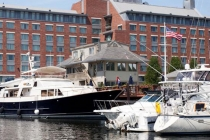 aerial imagery of Bed & Breakfast Afloat at Constitution Marina Boston MA US