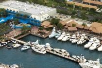aerial imagery of Bayshore Landing Marina Coconut Grove FL US