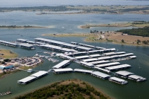 aerial imagery of Pier 121 Marina Lewisville TX US