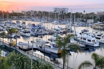 aerial imagery of The Harbor at Marina Bay Marina del Rey CA US