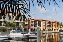 aerial imagery of The Marina at Naples Bay Resort  Naples FL US