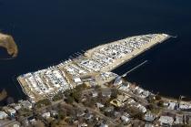 aerial imagery of Manasquan River Club, Safe Harbor Marinas Brick NJ US