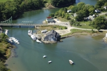 aerial imagery of Lyman-Morse Boatbuilding Thomaston ME US
