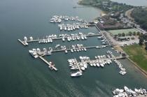 aerial imagery of Montauk Yacht Club Resort & Marina Montauk NY US