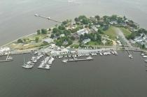 aerial imagery of Harbor Island Marina- Solomons Solomons MD US