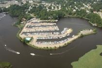 aerial imagery of Green Cove Marina Brick NJ US