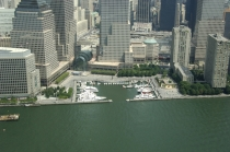 aerial imagery of North Cove Marina at Brookfield Place, New York Harbor  New York NY US