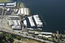 aerial imagery of Narrows Marina Tacoma WA US