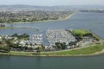 aerial imagery of Ballena Isle Marina Alameda CA US