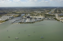 aerial imagery of Harbortown Marina - Fort Pierce, Safe Harbor Marinas Fort Pierce FL US