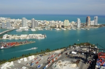 aerial imagery of Miami Beach Marina Miami Beach FL US