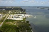 aerial imagery of Riverside Marina Fort Pierce Ft Pierce FL US