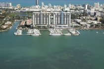 aerial imagery of Sunset Harbour Yacht Club  Miami Beach FL US