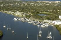 aerial imagery of Vero Beach City Marina Vero Beach FL US