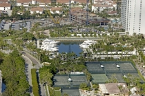 aerial imagery of Williams Island Marina Aventura FL US