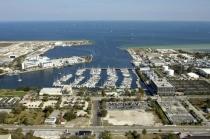 aerial imagery of The Harborage Marina at Bayboro Saint Petersburg FL US
