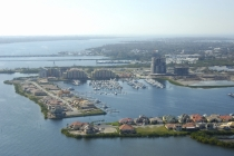 aerial imagery of Riviera Dunes Marina Palmetto FL US