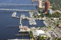 aerial imagery of City of Fort Myers Yacht Basin Ft Myers FL US