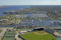 aerial imagery of Halifax Harbor Marina, Daytona Beach Daytona Beach FL US