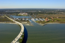 aerial imagery of Camachee Cove Yacht Harbor and Yacht Yard  St. Augustine FL US