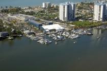 aerial imagery of Snook Bight Marina, a Suntex Marina Fort Myers Beach FL US