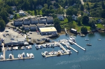 aerial imagery of Carousel Marina Boothbay Harbor ME US