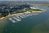 aerial imagery of Bay Pointe Marina, a Suntex Marina Quincy MA US