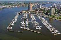 aerial imagery of Tidewater Yacht Marina Portsmouth VA US