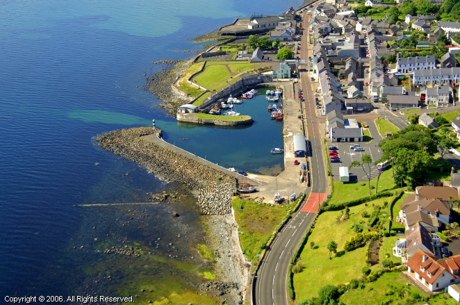 Carnlough Harbour In Cornlough Northern Ireland United