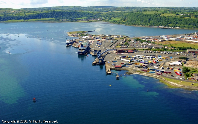 Larne United Kingdom  City new picture : Port of Larne Ferry, Larne, Northern Ireland, United Kingdom