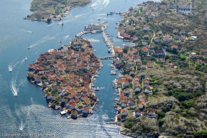 gullholmen yacht harbour in gotland  sweden