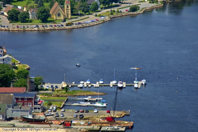 Shipyard Bay Marina in Mahone Bay, Nova Scotia, Canada
