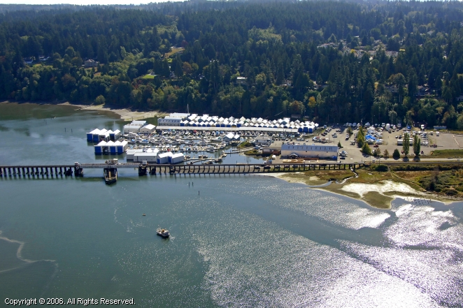crescent beach yacht club in surrey  british columbia  canada