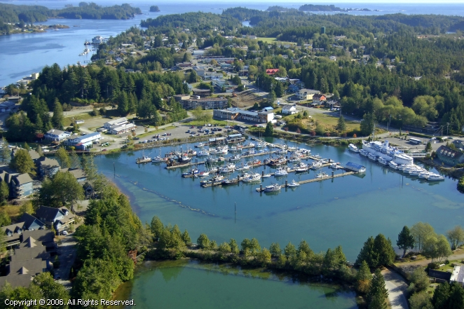 Ucluelet Small Craft Harbour In Ucluelet British Columbia