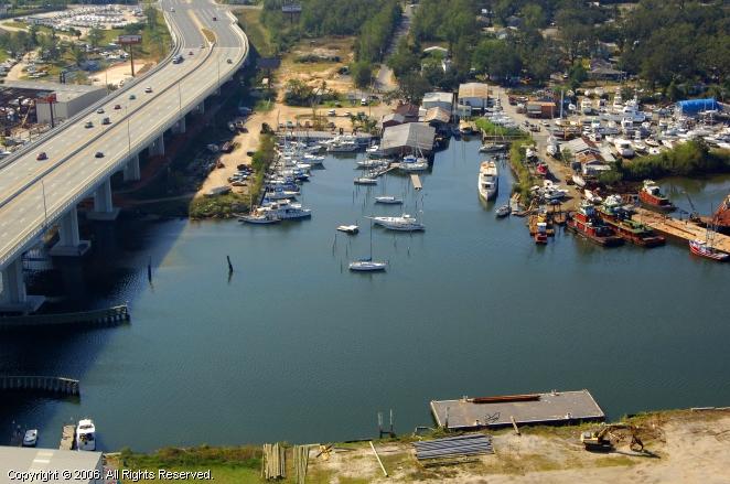Pelican's Perch Marina in Pensacola, Florida, United States