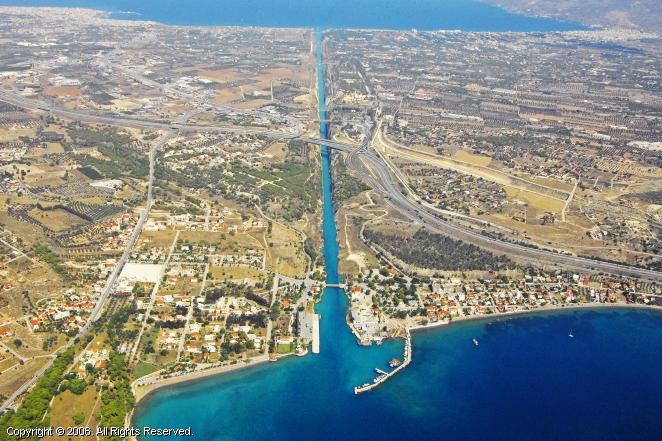Korinthos Channel, Isthmos Korinthou, Greece