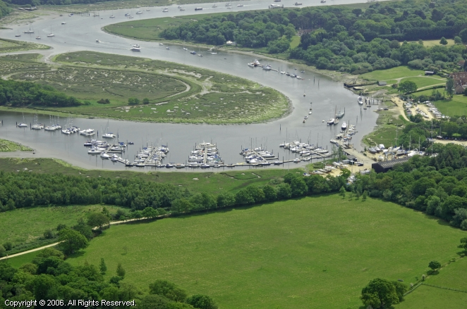Beaulieu United Kingdom  City new picture : Bucklers Hard Marina in Beaulieu, England, United Kingdom