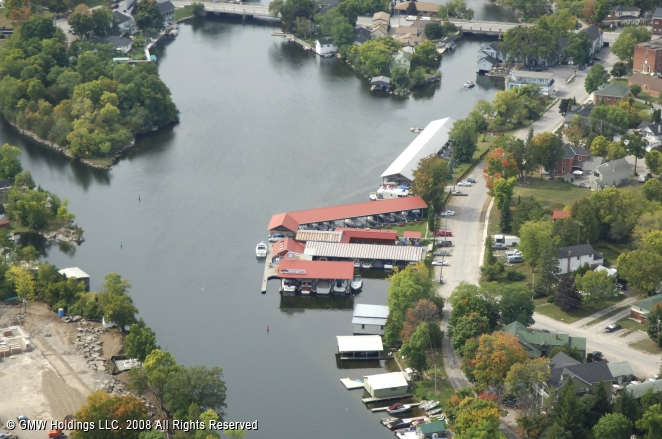 gordon yacht harbour in bobcaygeon  ontario  canada