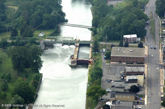 Canals In The United States : Erie canal lock lyons new york united states
