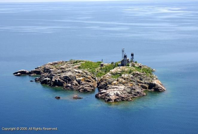 Granite Island Lighthouse Off Marquette Michigan United
