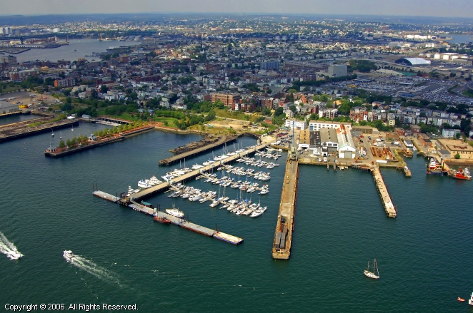 Boston Harbor Shipyard & Marina in East Boston, Massachusetts, United States