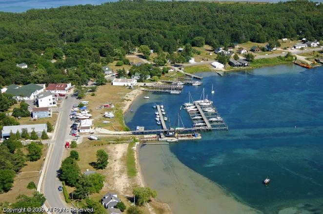 Beaver Island Marina In Beaver Island Michigan United States