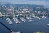 aerial imagery of New Bern Grand Marina New Bern NC US