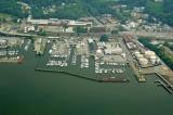 aerial imagery of Westerly Marina Ossining NY US