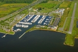 aerial imagery of Bay Bridge Marina Stevensville MD US
