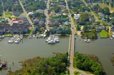 aerial imagery of Manteo Waterfront Marina  Manteo NC US