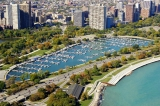 aerial imagery of Diversey Harbor Lagoon, the Chicago Harbors Chicago IL US