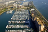 aerial imagery of Cabrillo Isle Marina San Diego CA US