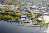 aerial imagery of Nestegg Marine Marinette WI US